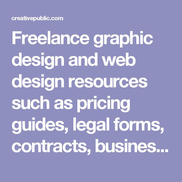 Freelance graphic design and web design resources such as pricing guides, legal forms, contracts, business plans, human resource content and other design business related content.