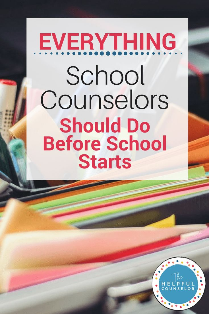 Everything school counselors should do before school starts. Click to see the whole list via @https://www.pinterest.com/helpfulcounsel/