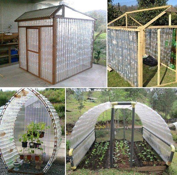 plastikovyh a greenhouse from bottles