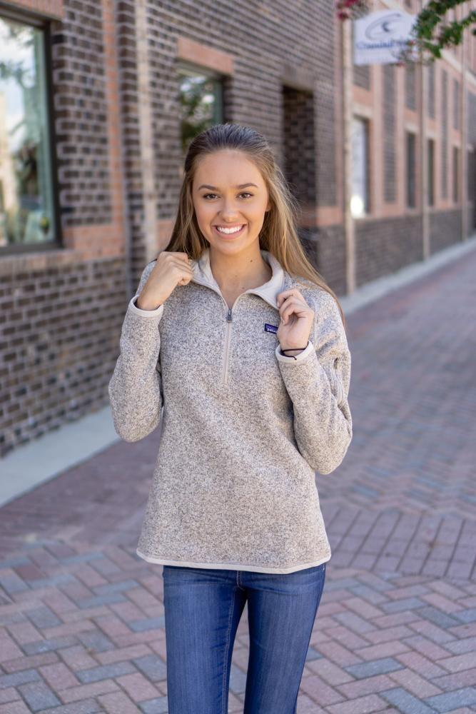 Patagonia Womens Better Sweater 14 Zip Fleece Pelican Want