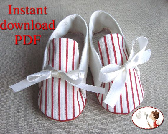 Sewing. Pattern. Baby. Sailor. Shoes. Booties. DIY.  pdf
