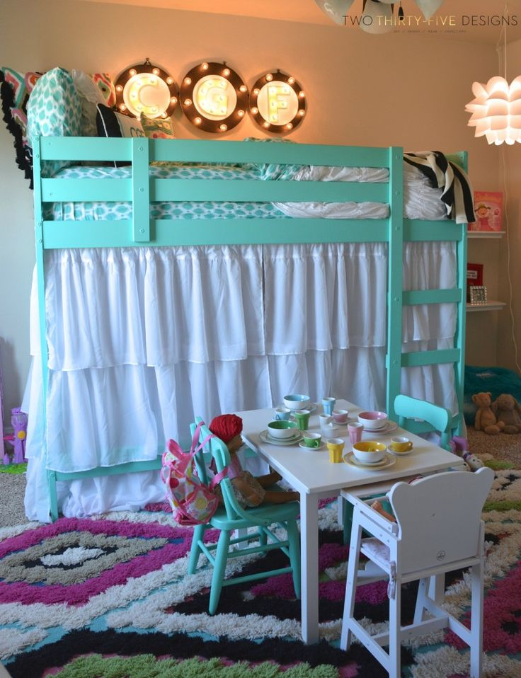 Ikea Bunk Bed Hack by TwoThirtyFiveDesigns