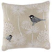 Tesco Embroidered Bird Cushion, Multicoloured