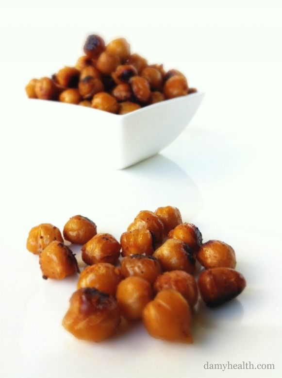 Sweet with Heat Roasted Chickpeas