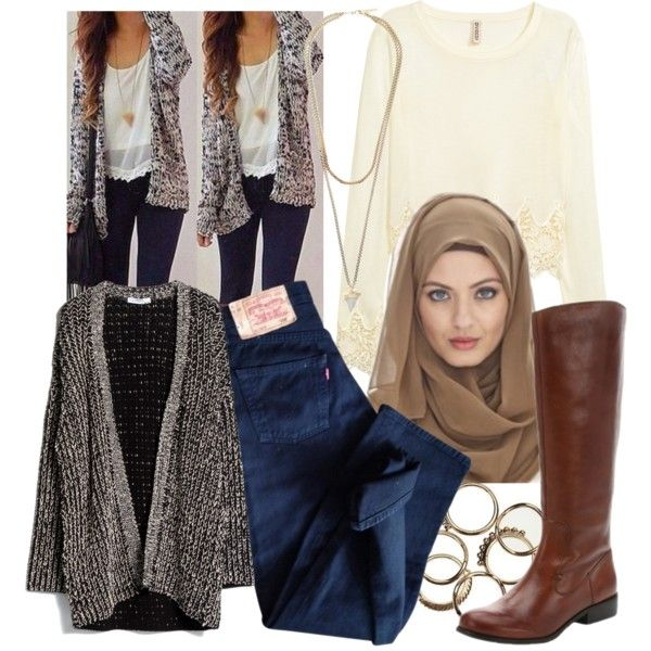 Lana   Hijab by lunicornn on Polyvore featuring MANGO, H&M, Levi's, Ciao Bella and Givenchy