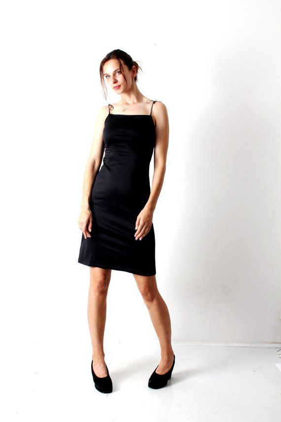 1d68921138d 90s Black Mini Dress 90s Slip Dress 90s Dress Mini Dress Shift Dress Tight  Dress Sexy Dress Minimalist Dress Strapy Dress Size S Small