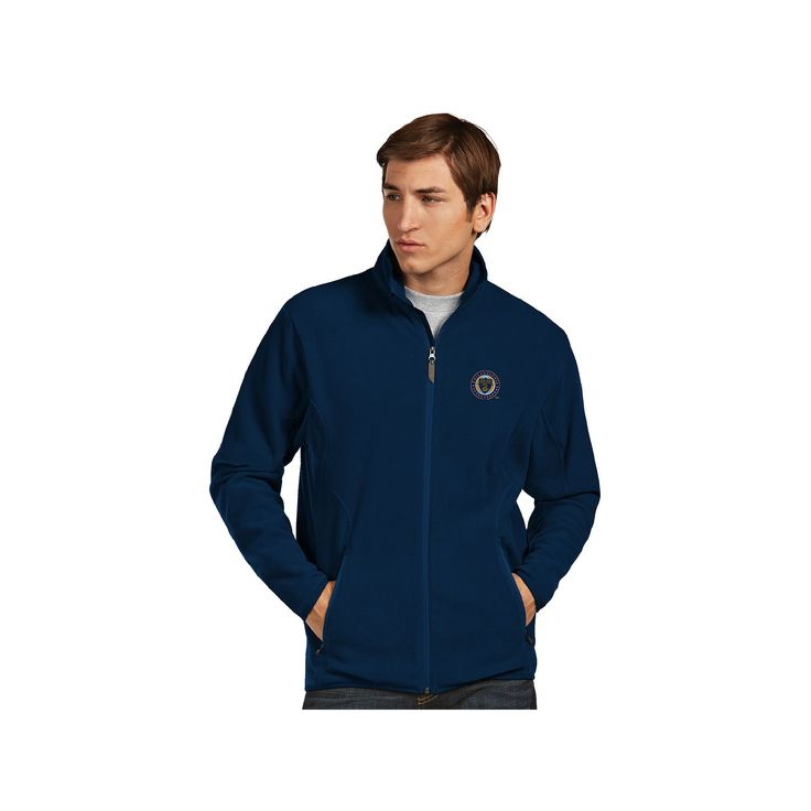 Men's Antigua Philadelphia Union Ice Polar Fleece Jacket, Size: Medium, Blue (Navy)