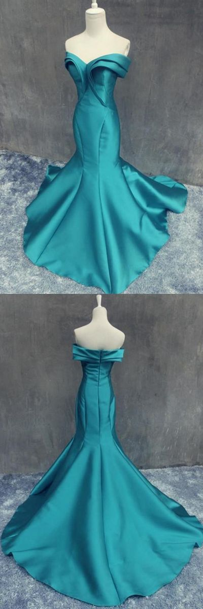 Mermaid Off Shoulder Backless Prom/Evening Dress With Ruffles
