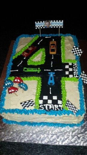 4th birthday racing car cake :)