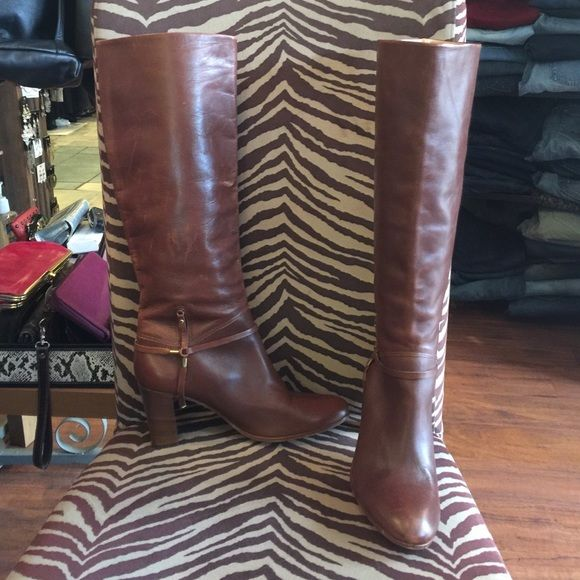 Tommy Hilfiger tall boots Tommy Hilfiger tall boots. Some scuffs on left boot shown in picture. Otherwise very good condition. No pay pal or trades. Price firm. Tommy Hilfiger Shoes