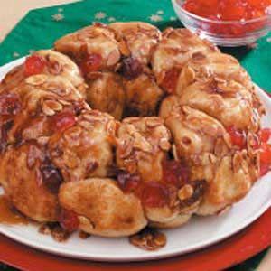 Cherry Almond Pull-Apart Bread | Recipe | Almond Bread, Almonds and ...