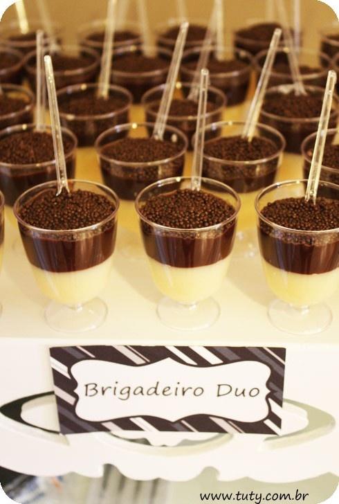 Do It Yourself - DIY - Brigadeiro duo no copinho - docinho de colher - Tuty - Arte & Mimos www.tuty.com.br