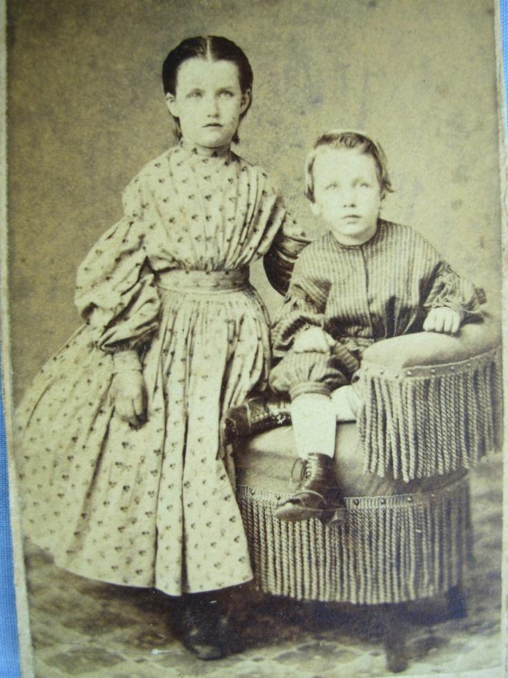 CIVIL WAR ERA CDV PHOTO OF CUTE BOY AND GIRL IN HOOP DRESS UTICA NY TAX STAMP   eBay: 1850 S Girls, Vintage Photos, Cute Boys, Girls 1860 S, Civil War, Century Photographs, White Photos, Cdv Photo