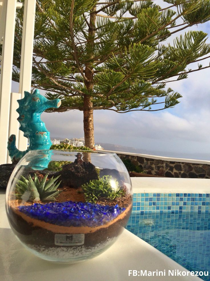 Santorini Terrarium - Red Beach Keep your beautiful moments on the magic island alive for ever.