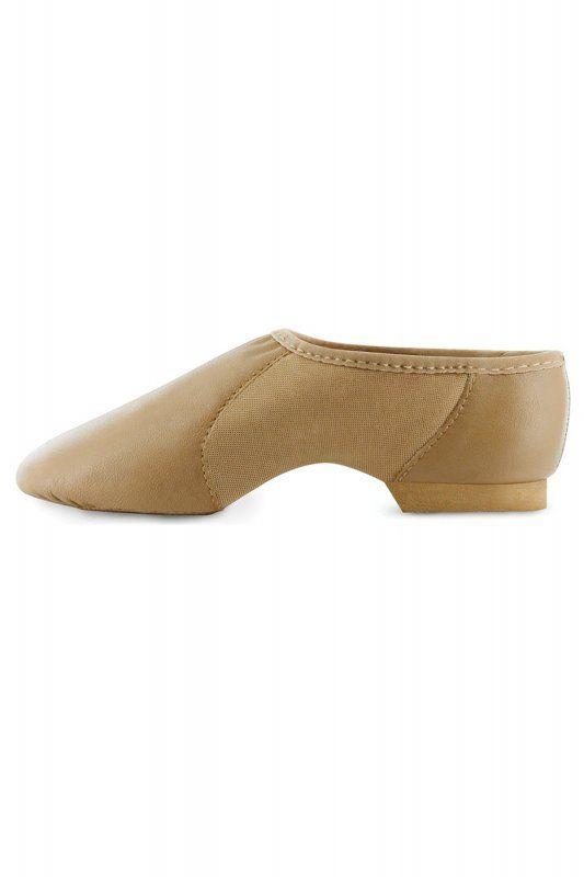 S0495 Neo Flex Jazz Schuhe mit geteilter Sohle von Bloch. Diese Jazzschuhe zum Hineinschlüpfen aus Leder sind sehr bequem. Mit den Neopren-Einsätzen sind die Schuhe sehr flexibel und passen sich an