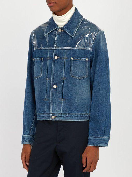 add924ec9d Maison Margiela PVC-panelled denim jacket