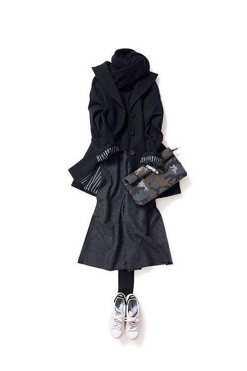 Kyoko Kikuchi's Closet #kk-close 黒、グレーのシックカラーで挑戦したい、今のバランス