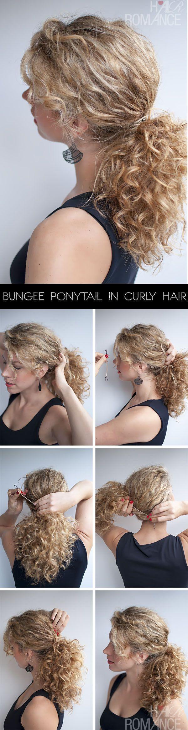 Hazte la cola rizada perfecta. | 21 Peinados que puedes hacer en menos de cinco minutos