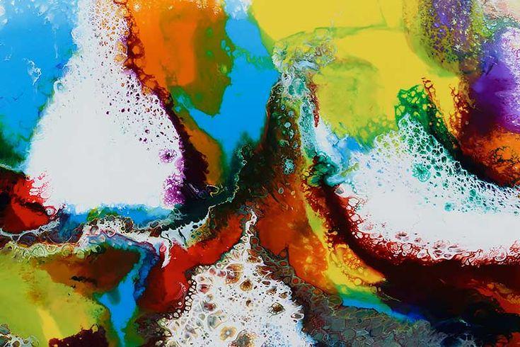 Store malerier i flotte farver - Brilliance I