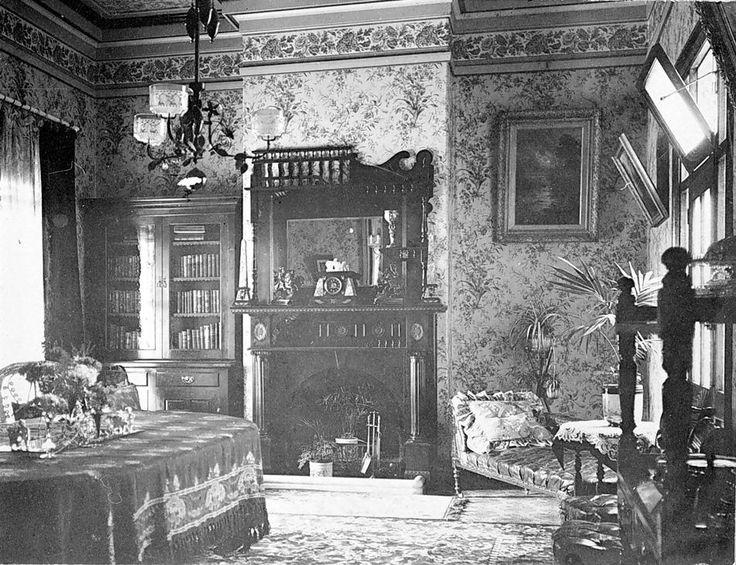 Living room, Warracknabeal, Wimmera, Victoria, Australia, circa 1895