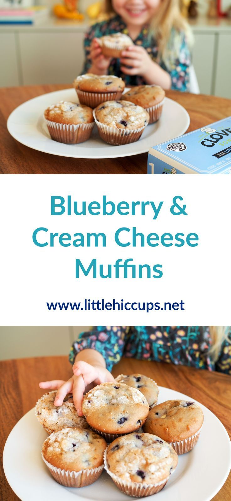 Blueberry & Cream Cheese Muffins from littlehiccups.net #sponsored #spottheseal