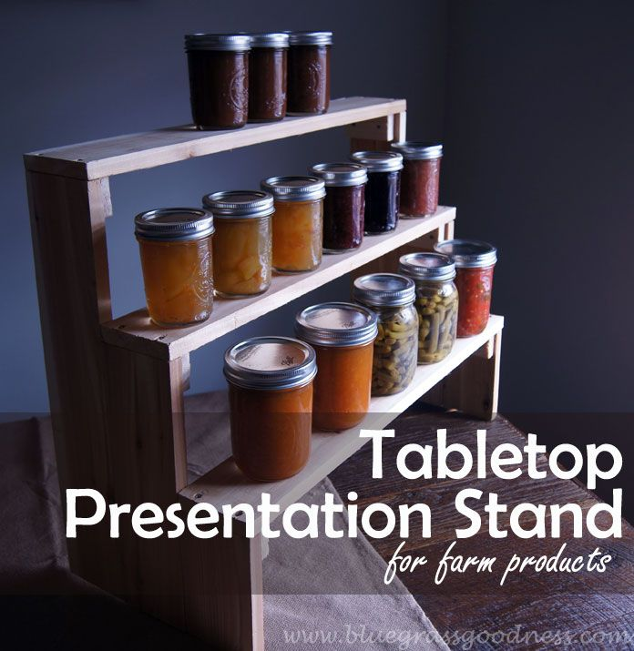 DIY Tabletop Presentation Stand for Farm Products - Photo by Elizabeth Troutman/Bluegrass Goodness (HobbyFarms.com)
