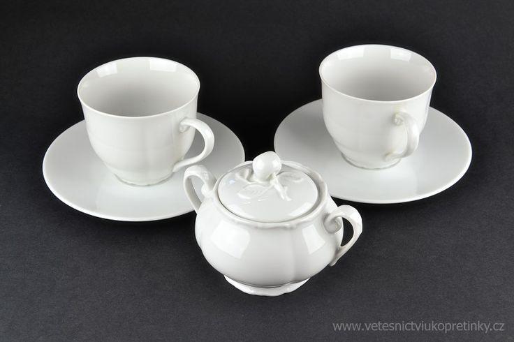 Dárková sada cukřenka a 2 čajové šálky s podšálky. Haas&Czjek  #vetešnictví #bazar #porcelán #porcelain #junkshop #vetesnictviukopretinky