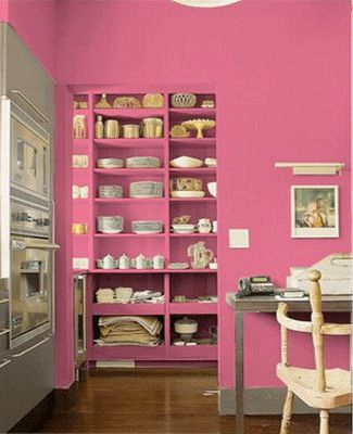 pink wall-painting