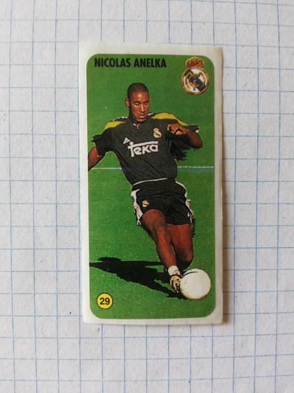 Вкладыш наклейка из жевательной резинки  Футбол - Nicolas Anelka  № 29