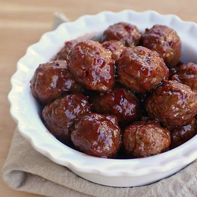 Super Bowl Food-Sweet and Sour Meatballs-See 32 Yummy Recipes  Bite size snacks Finger food Tailgating Party Food