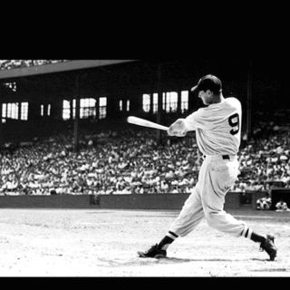 Ted Williams: Sweetest swing ever, my hero, greatest baseball player that has ever lived, #9. Enough said