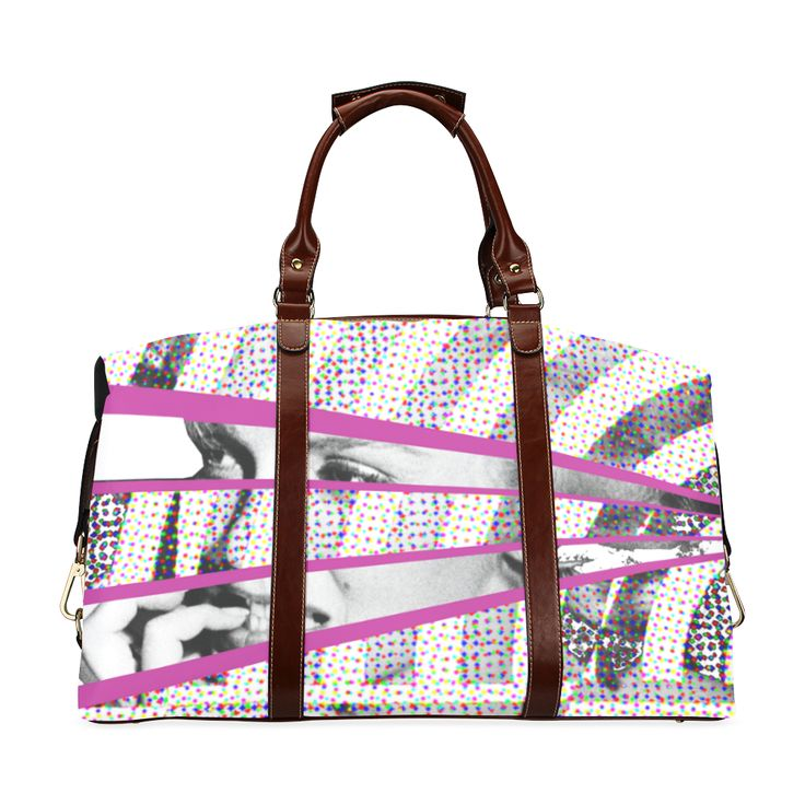 'Norma Jean' - Classic Travel Bag (Model 1643) - @artsadd  #carryall #stylish #trending #travelbags #new #hollywood #bag #accessories #womensfashion #fashion #pink #style  #lines #retro #artsadd #marilynmonroe #hollywoodlegends #somelikeithot #sexsymbol #sexy #sexyeyes #blondes