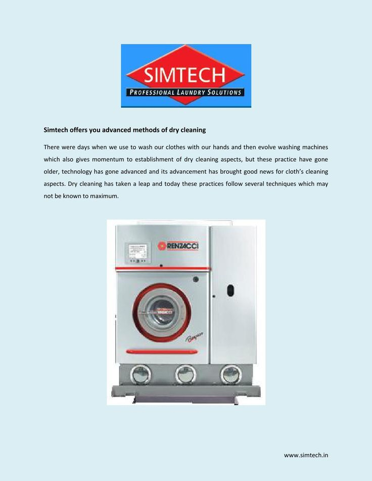 Dry Cleaning Machine  Simtech dry cleaning have multiple benefits and high quality of  machines and other cutting-edge technologies.