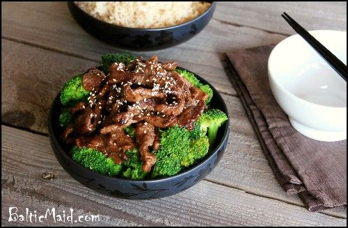 Beef and broccoli. I bet I could make this one vegan with Trader Joe's beef less strips and vegetarian oyster sauce.