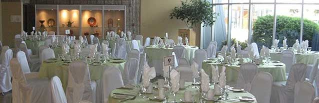 The Burlington Art Centre has several meeting rooms available for rent for your business or social event. The Shoreline/Rotary Lakeshore Room, with a view of the lake, seats 200 and our cozy Fireside Room seats 40. The BAC also houses a magnificent conservatory, suitable for your special occasion photographs.  Catering services are provided exclusively by Pepperwood Catering and Special events. An array of menu options are available to suit your event.