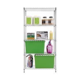 Style Selections 72 In H X 36 In W X 16 In D 4 Shelf Steel Nsf