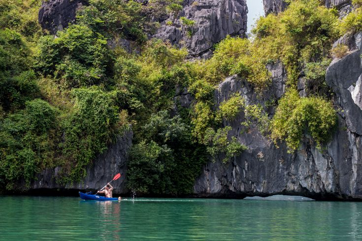 Paddling into secret lagoons in Lan Ha Bay with Asia Outdoors is a must in Cat Ba #travel #vietnam #catba #island #lanhabay #kayak #kayaking #gosquab