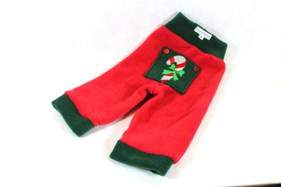 Christmas fleece longies / yoga pants featuring by bananabottoms, $16.50