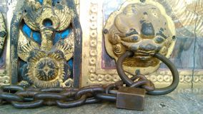Classical lock in the temple Royalty Free Stock Photos