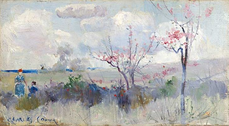 Charles Conder - Herrick's Blossoms, 1888, oil on cardboard