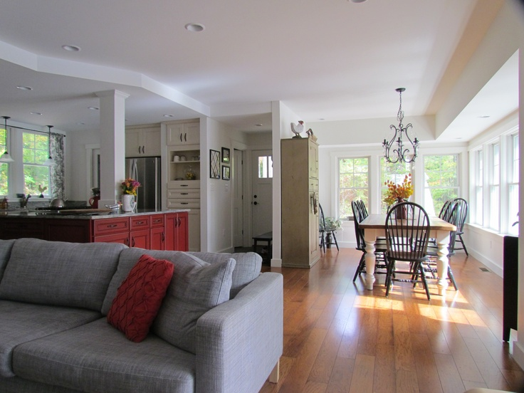 Large dining rooms open concept and living spaces on pinterest - How to live in small spaces concept ...