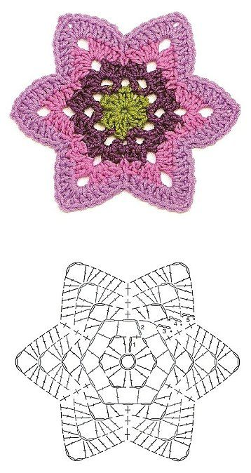 Crochet Motif Collection - Free Crochet Diagrams - (de-la-maison-au-jardin.over-blog)