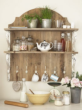 Make this myself - maybe salvage old fence plus small shelves. country style wooden shelf unit by primrose & plum | notonthehighstreet.com