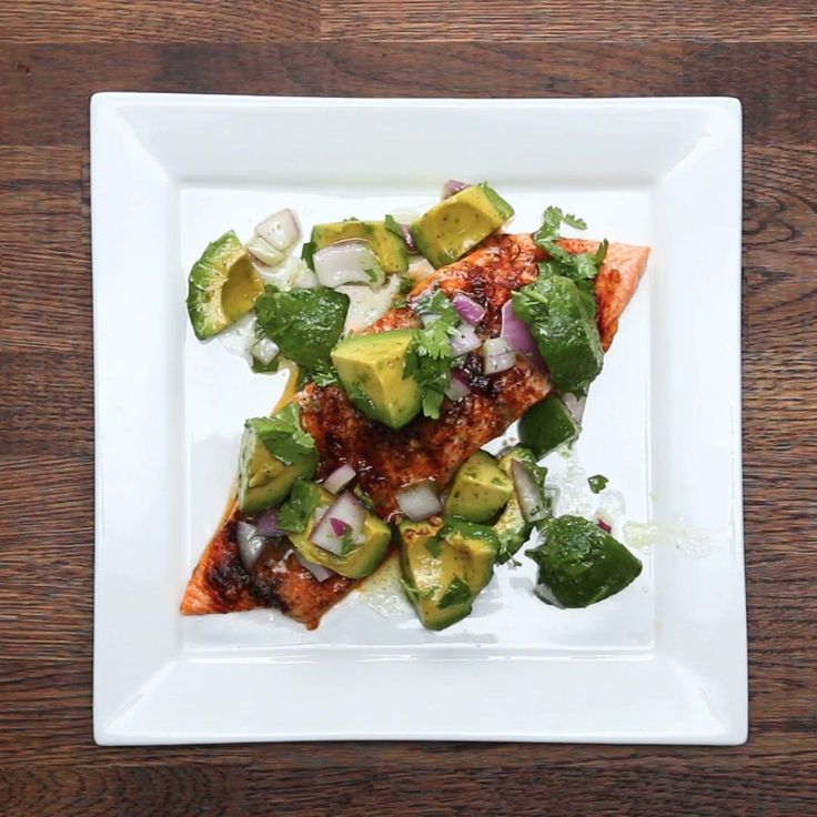 Avocado Lime Salmon Recipe by Tasty
