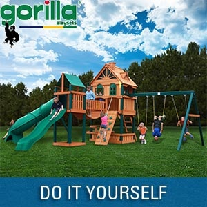 87feb87f889db Costco  Woodbridge Swing Set By Gorilla® Playsets