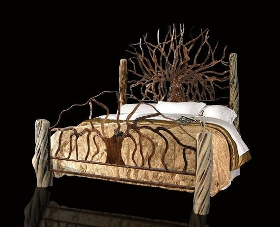King Size Hand Made Tree Bed