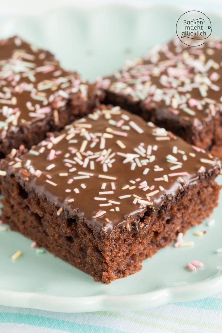 Ein wunderbar saftiger, schneller und einfacher Schokoladenkuchen für jeden Anlass.   – Kuchen, Torten, Backrezepte