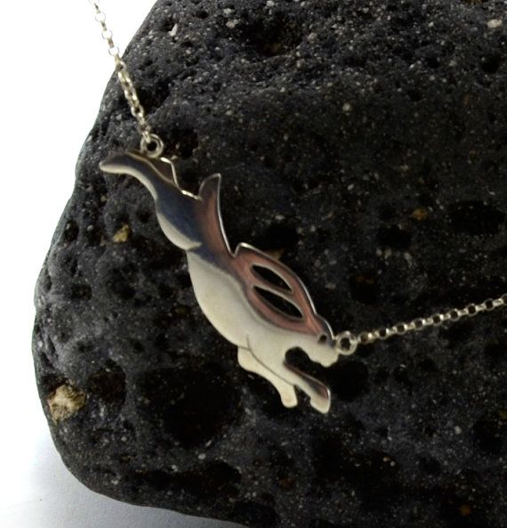 Tortoise and Hare Pendant by NaturesCrossroad on Etsy