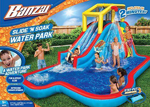 Banzai - Slide 'N Soak Splash Park Constant Air Water Slide - LIMITED SUPPLY