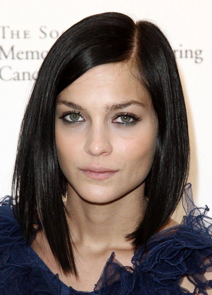 Shoulder Length Haircuts Dark Hair Shoulder Length